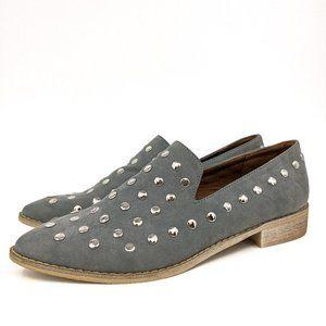 Mi.iM Scottie Studded Loafers Gray Studded Sz 8.5